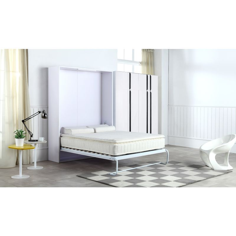 Palermo Double Fold Down Wall Cabinet Murphy Bed | Buy Double Size ...
