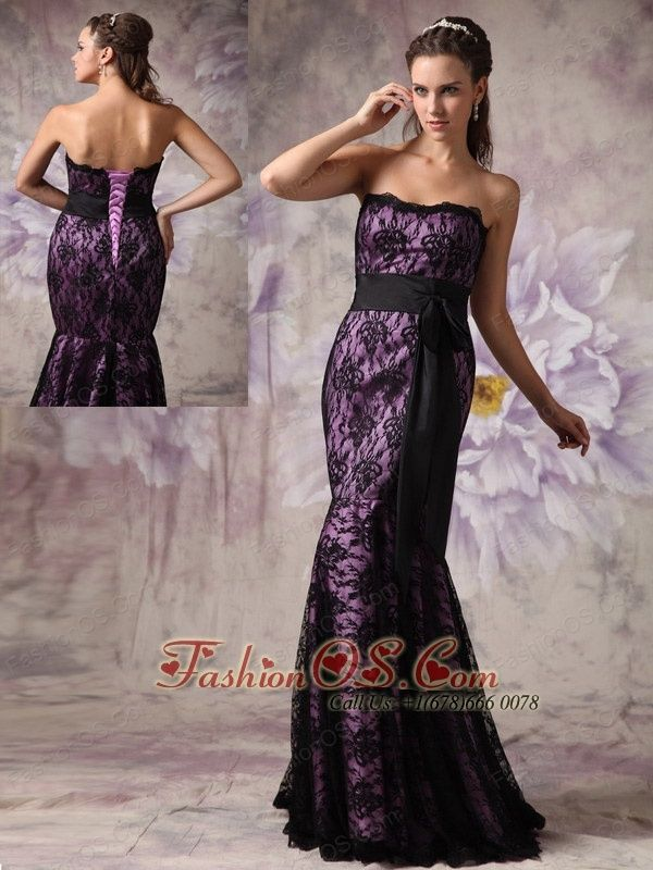 Eggplant Color Evening Gowns