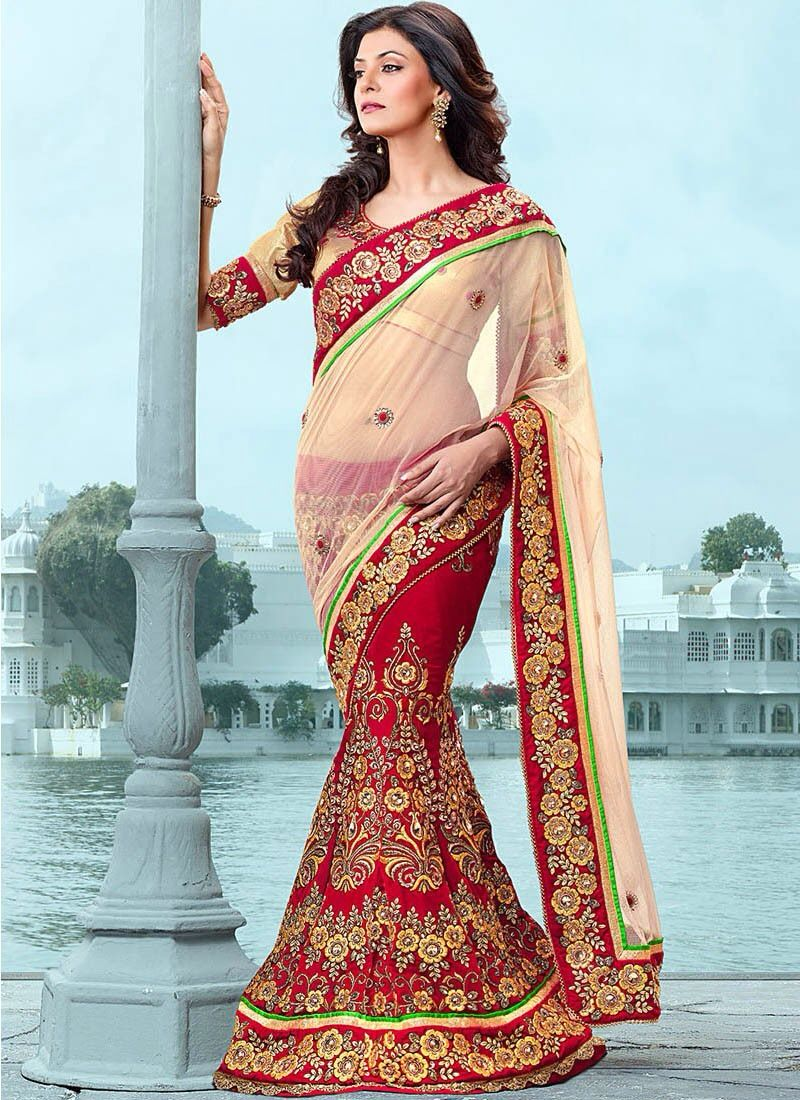 Red and Gold Saree.   Saree   Pinterest   Saree and Gold