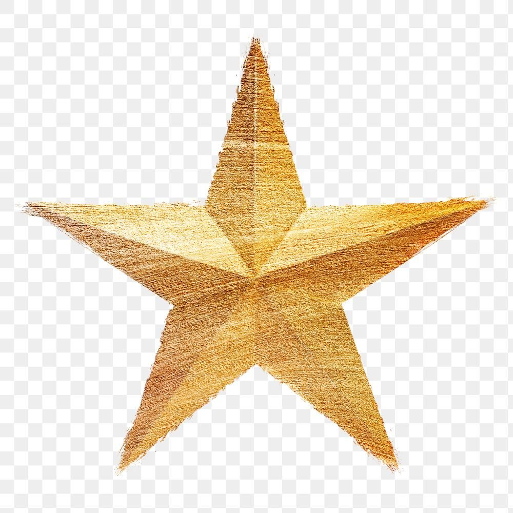 Hand Drawn Gold Star Brushstroke Style Design Element Free Image By Rawpixel Com Winn Star Illustration Brush Stroke Png Star Brush