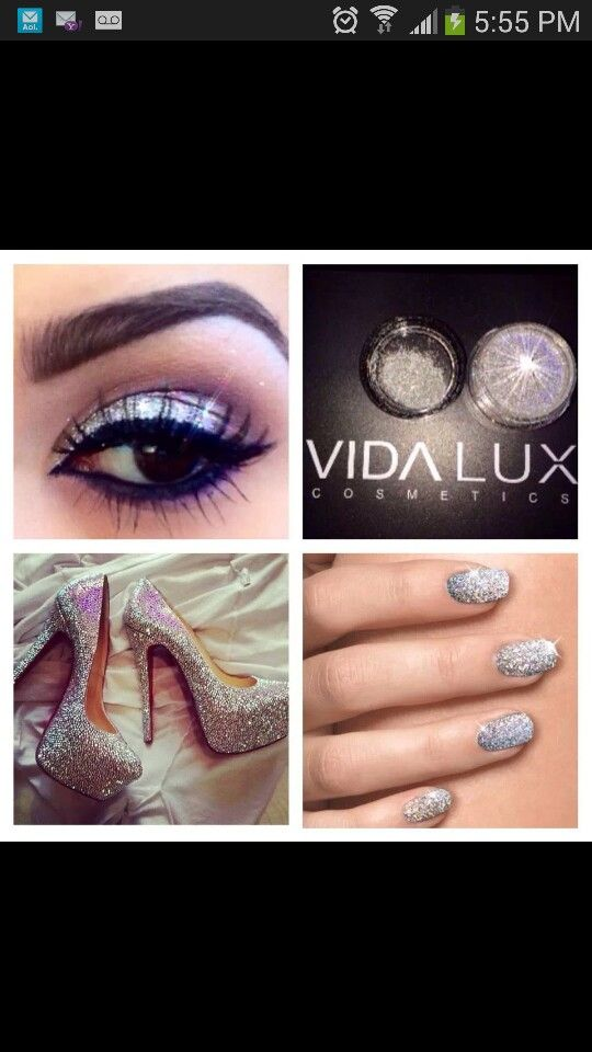 I love the bling on the eyes, hands and feet. Vida Lux cosmetics