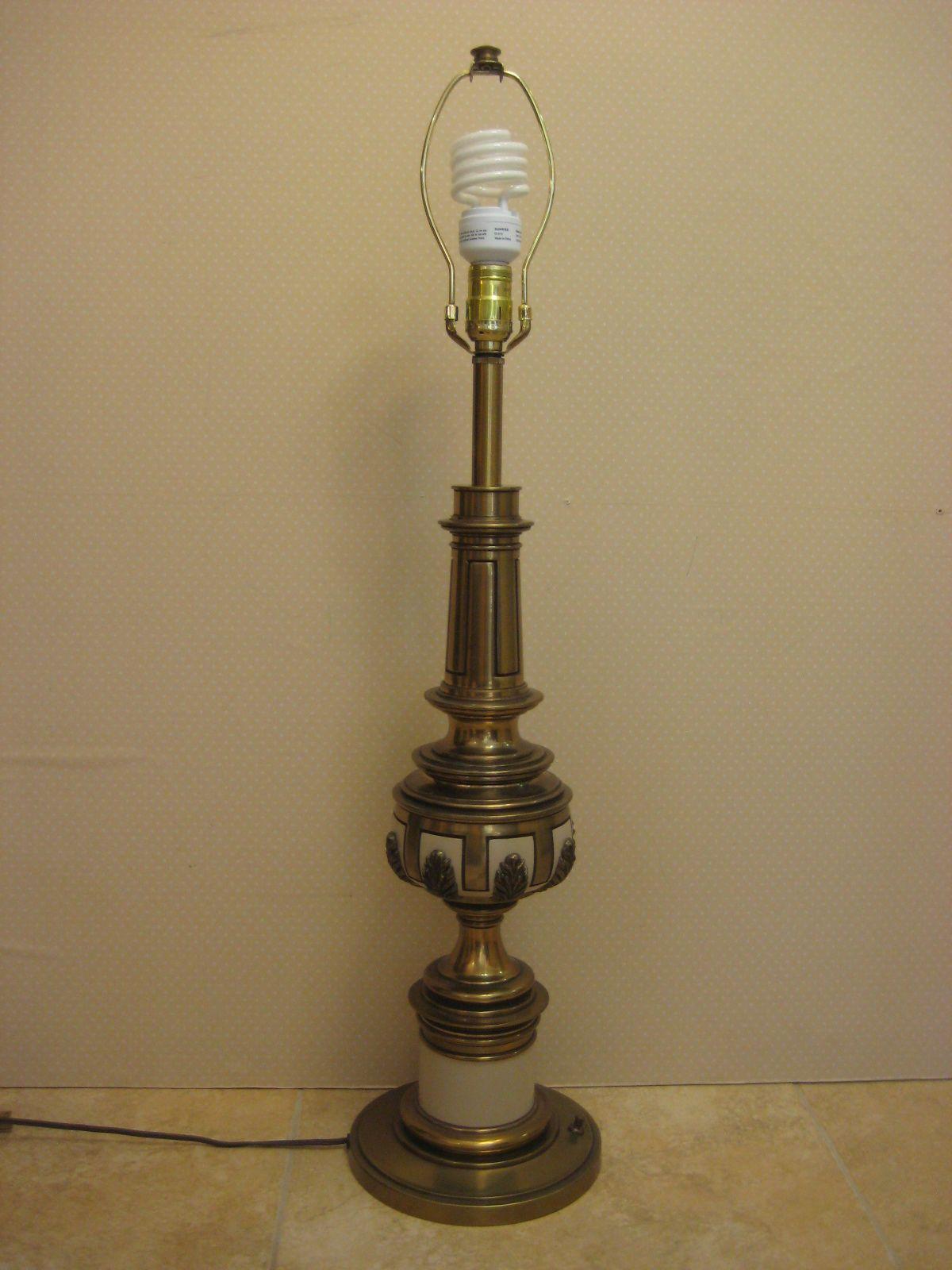 Vintage stiffel brass porcelain table lamp 28 tall bottom to vintage stiffel brass porcelain table lamp 28 tall bottom to socket aloadofball Choice Image