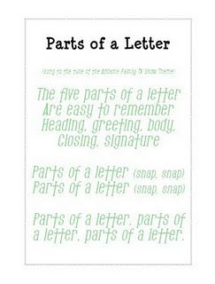 Parts Of A Friendly Letter  Teacher Ideas  La