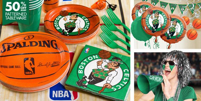 Boston Celtics Party Supplies Party City It S Ya Birthday It S