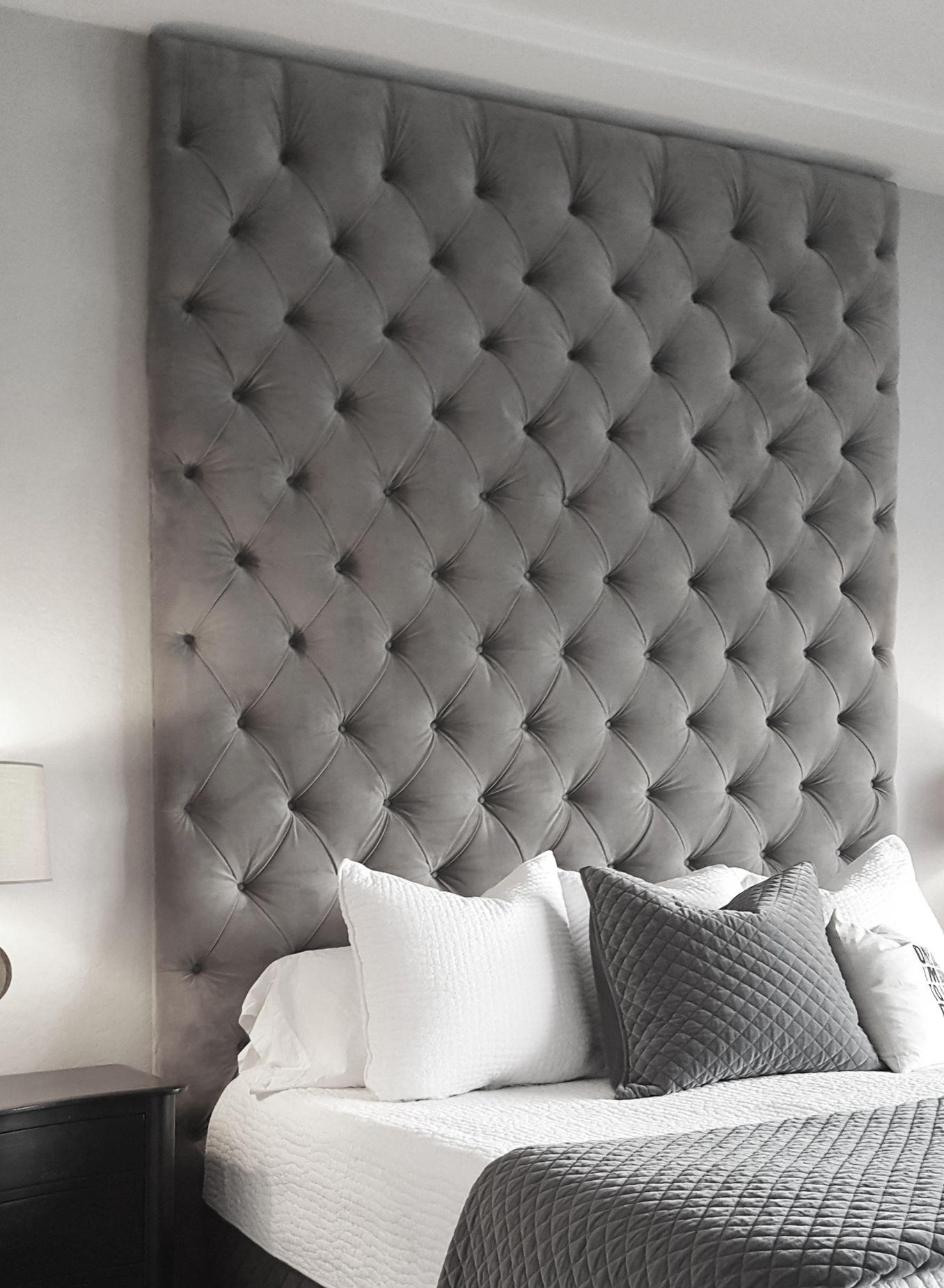 upholstered panel headboard on deep tufted wall panel upholstered walls upholstered wall panels wall panels bedroom deep tufted wall panel upholstered