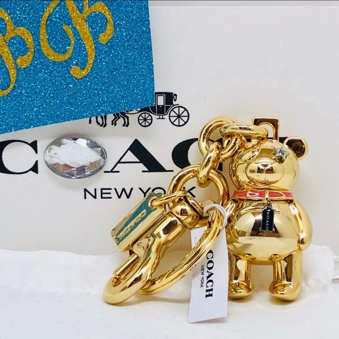 Key chain Hang Tag Bag Charm Leather COACH LAS VEGAS F35488 Cherry// Heart// Slot