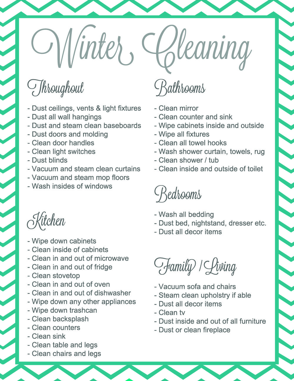 Winter Cleaning...it's a thing... {Giveaway + Free Printable ...