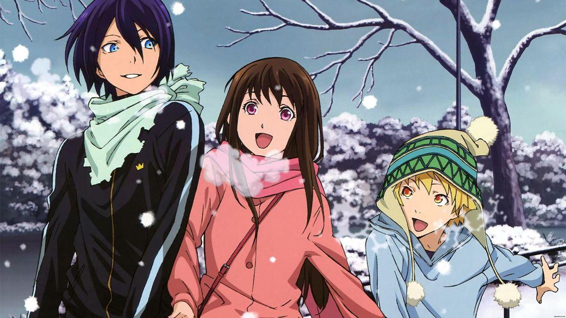 Noragami Yato, Hiyori, Yukine Noragami, Noragami anime