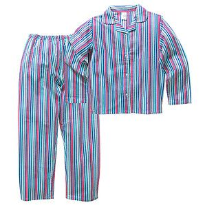 Girls' Stripe Flannelette Pyjamas