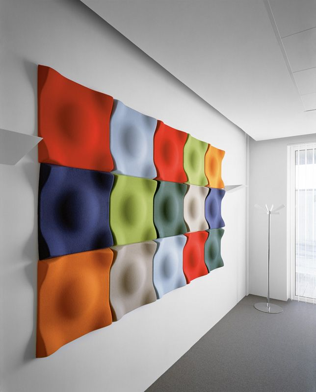 Acoustic Panel Accent Wall Media Room: OFFECCT Handmade Tiles Can Be Colour