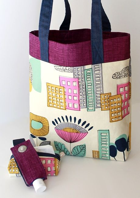 3 10 Lined Tote Bag Tote Bags Sewing Sewing Bag Tote Bag Tutorial
