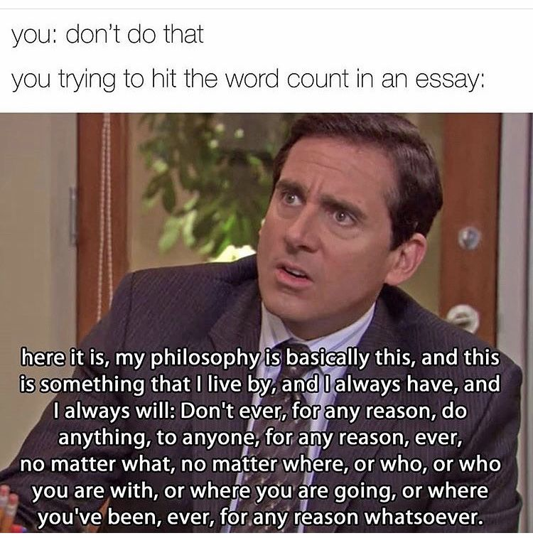 The Office Meme Words My Philosophy Spark Notes