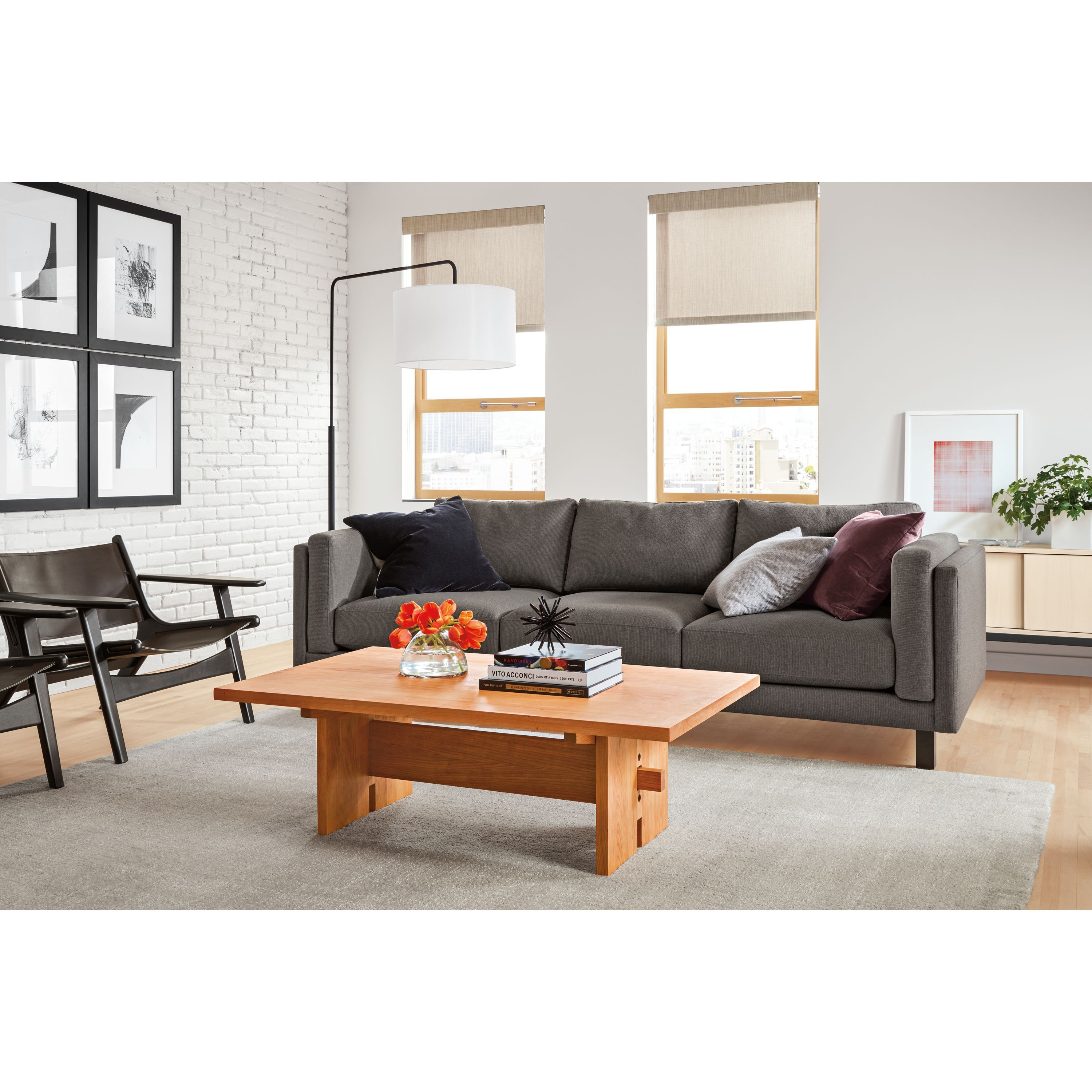 Room board lars leather lounge chair