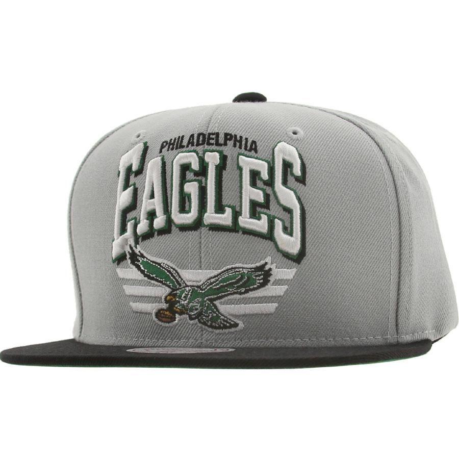 2ef9919af6643 Mitchell And Ness Philadelphia Eagles STA3 Wool Snapback Cap (silver    black) NZF30-6EAGLESBK -  25.99