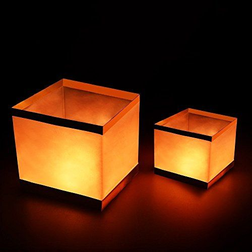 $16.99 - Pack of 20 Water Floating Candle Lanterns Outdoor Biodegradable Lanterns for Praying 5.9 Inch - http://bit.ly/2dctIPz - Unfolded diameter: 15cm*15cm*15cm (5.9″*5.9″*5.9″) Pack of 20 square chinese wishing lamp, easy to assemble. Made of Water-proof and flameproof paper, 100% biodegradable.