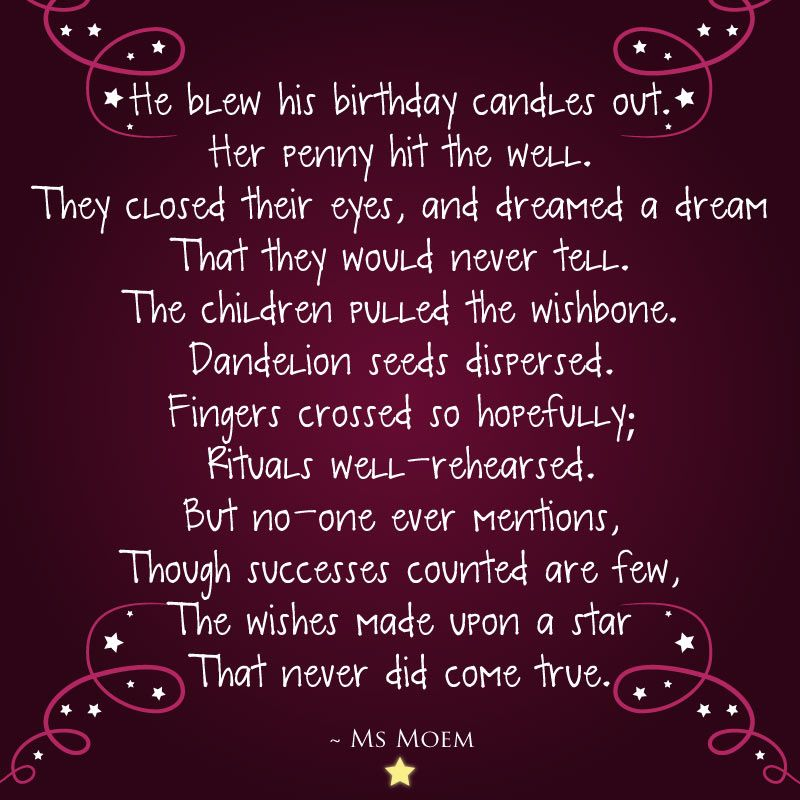 If only making wishes guaranteed that they'd come true! Love all ...