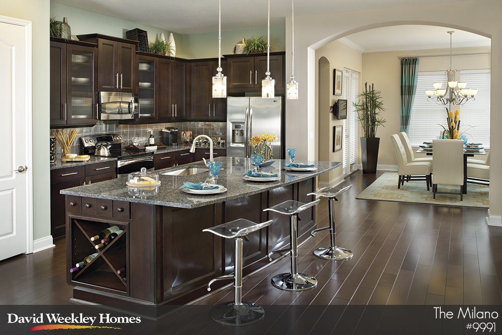 Loving The Dark Colors In This Kitchen In The Milano Model In Orlando, FL!