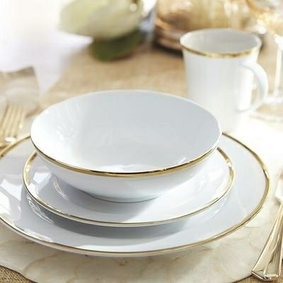 Pier1 imports - gold rimmed dinnerware & Pier1 imports - gold rimmed dinnerware | Minimalism Decor ...
