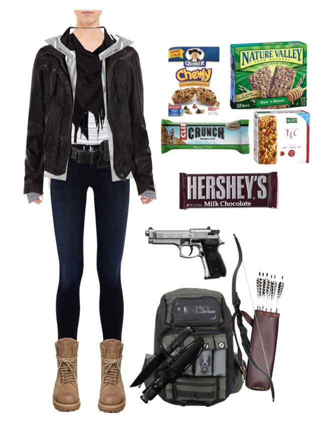 """""""the last of us oc winter outfit"""" by the-otaku62 ❤ liked on Polyvore featuring Lisa Marie Fernandez, American Eagle Outfitters, Goldsign, AllSaints, POLICE, Criminal Damage, Rick Owens and Hershey's"""