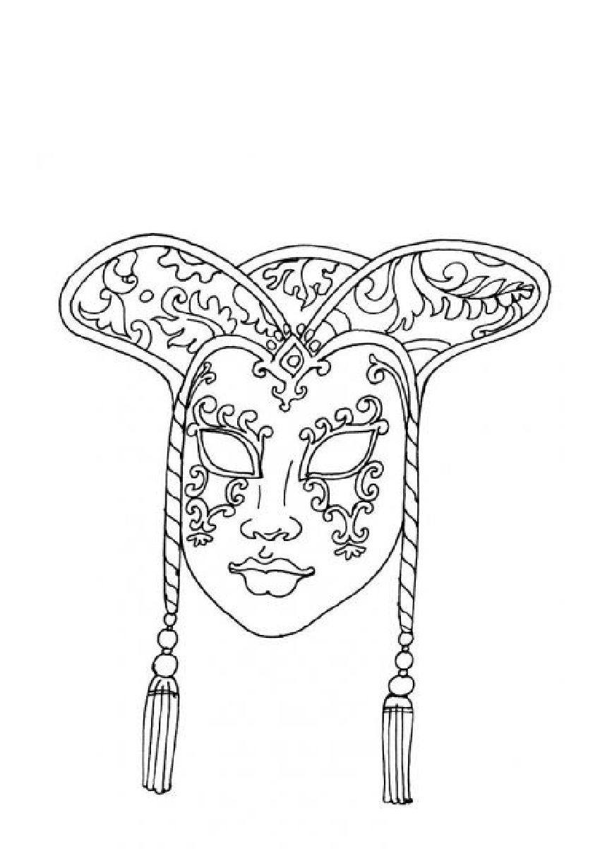 m and m coloring pages   Coloring Carnival mask - Coloring pages ...