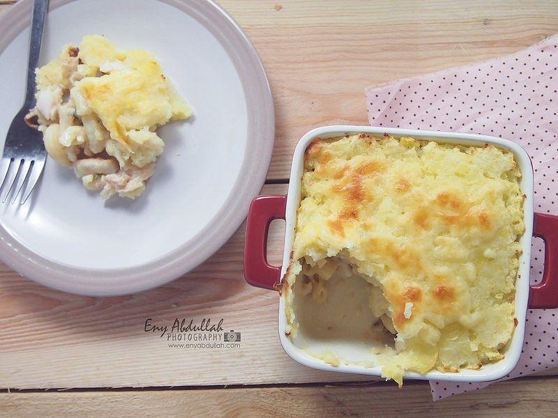 Resepi Macaroni Bakar Cheesy Baked Pasta Cheesy Bake Potato Makaroni Makanan Kentang