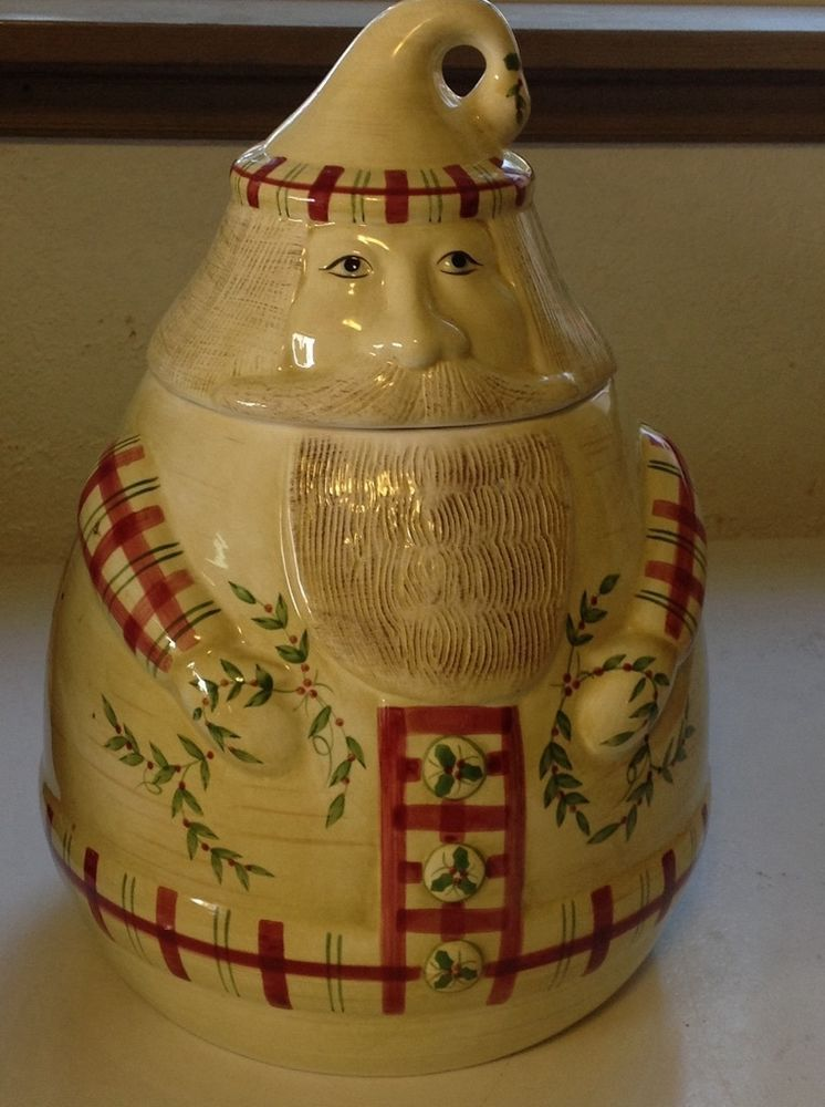 Laurie Gates Design Santa Cookie Jar By Los Angeles Pottery Santa