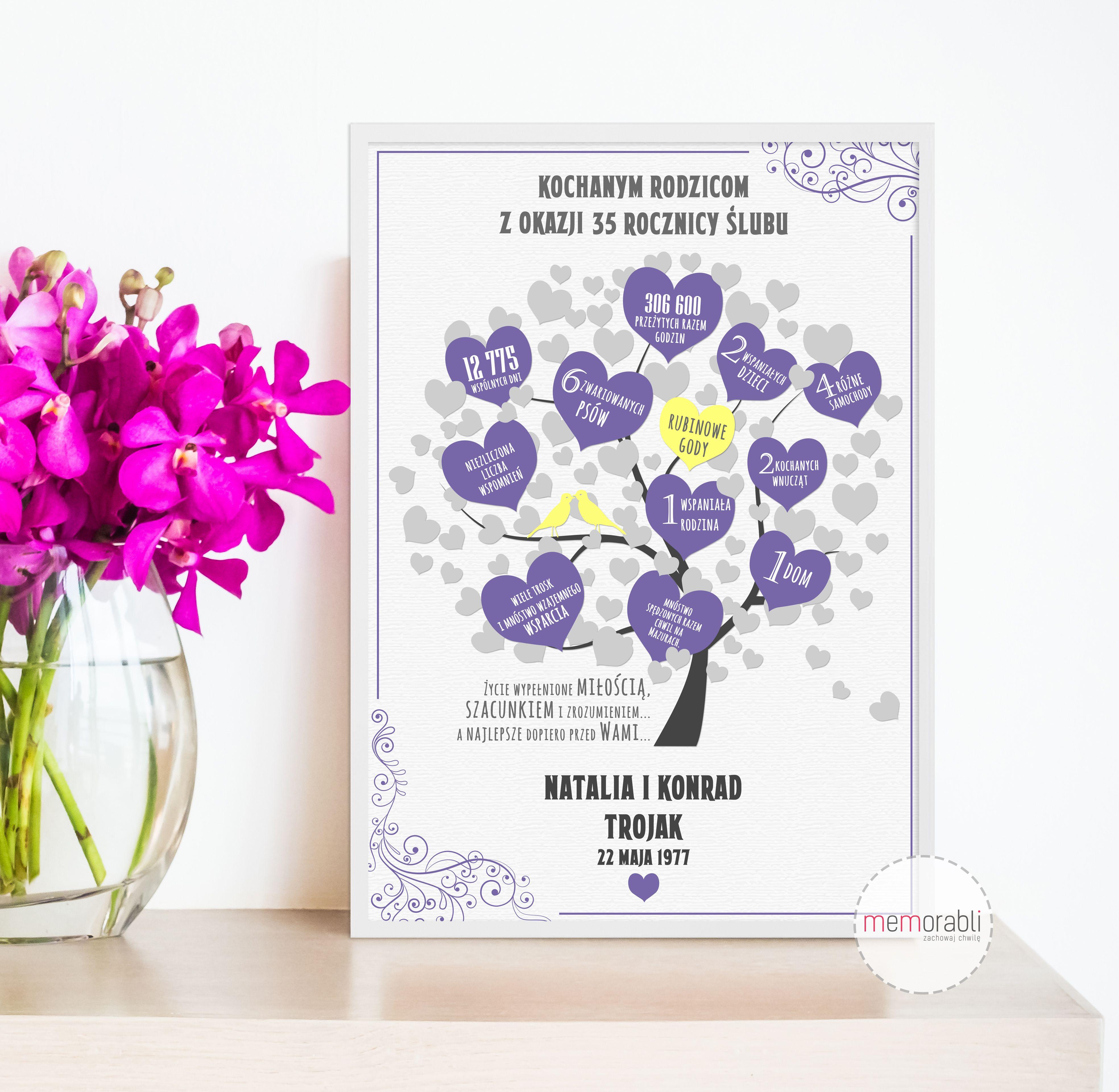 Plakat Na Rocznice Slubu Walentynki Love Wedding Rocznica