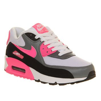 accumulare Stupore collaterale  Nike Air Max 90 (w) White Hyper Pink Cool Grey - Hers trainers | Nike air  max 90 white, Nike shoes air max, Nike air max
