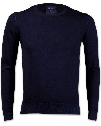 Wool & Co 0001 Herren Strickpullover marine