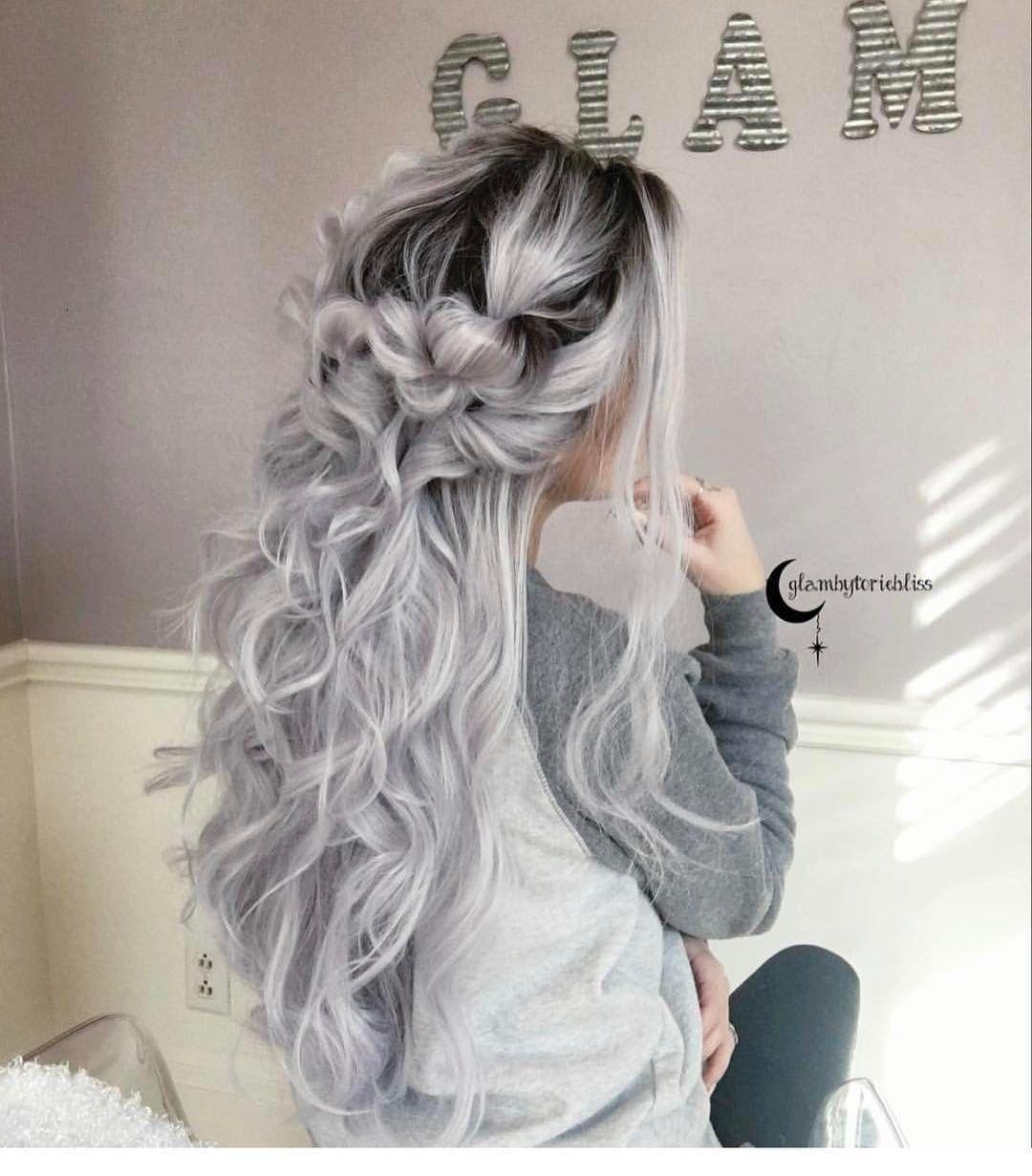 Peinados tinte gris