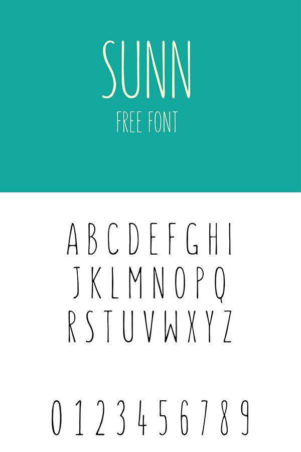 SUNN - Free Handwriting Font