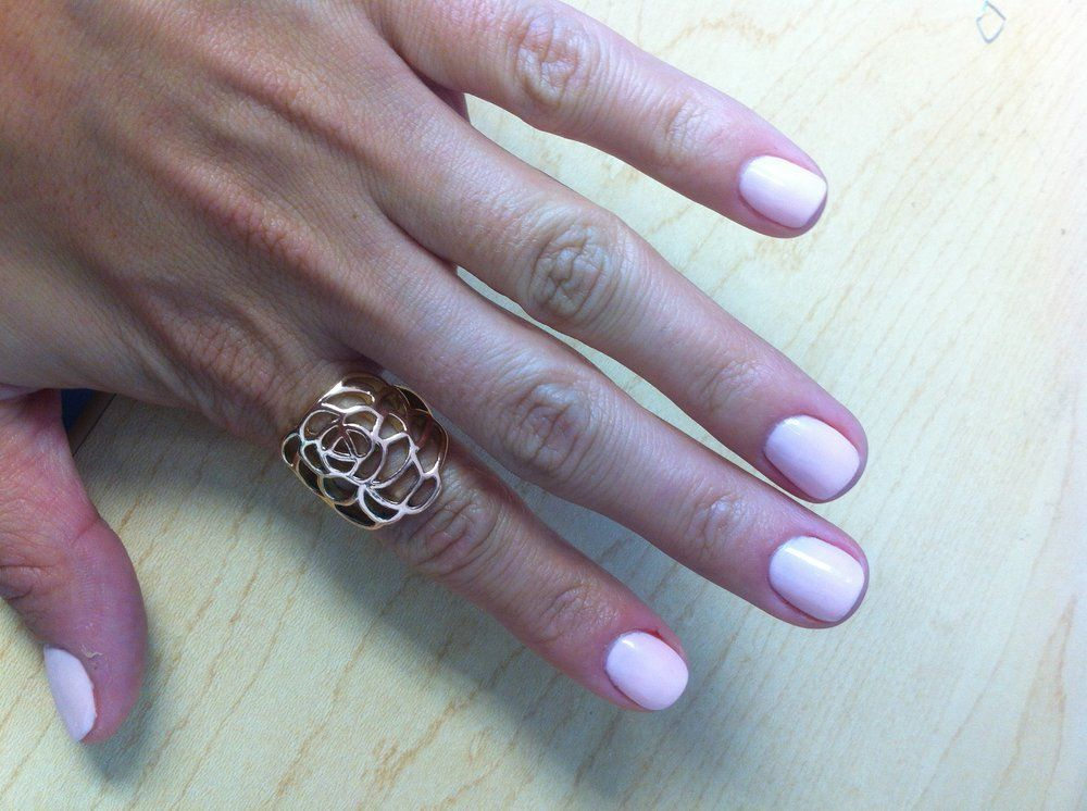 Sensi Luxury Nails Spa San Francisco Ca United States Light Pink