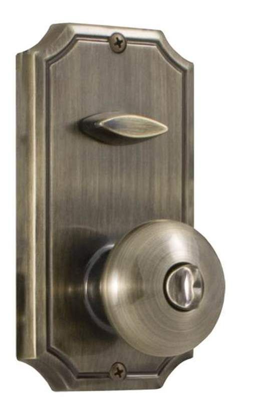 Weslock 1400I Single Cylinder Interior Pack Featuring an Impresa Knob from the T Antique Brass Handleset Interior Pack Single Cylinder