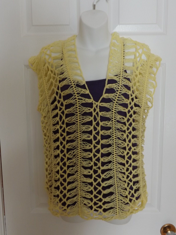 Crochet en Horquilla Blusa de Verano. | crochê de grampos ...