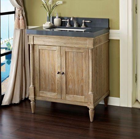 Rustic Chic 30 Vanity Weathered Oak Fairmont Designs