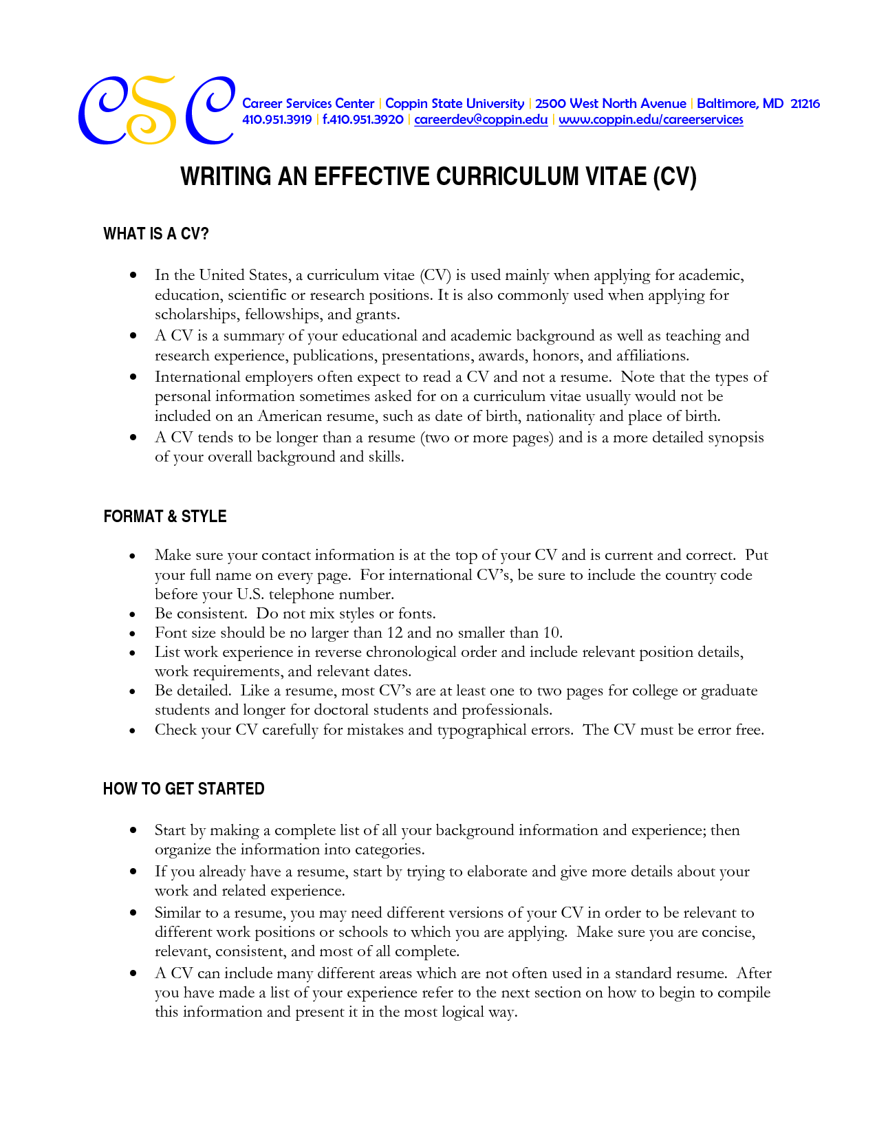what is a cv word