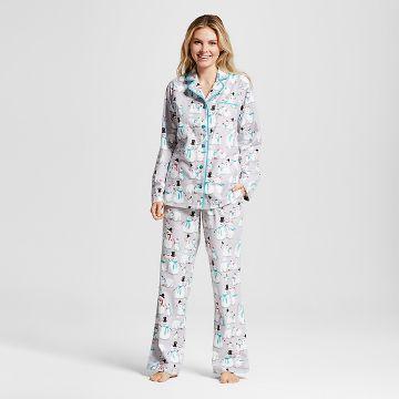 Nite Nite Munki Munki® Women's Snowman Flannel Pajamas