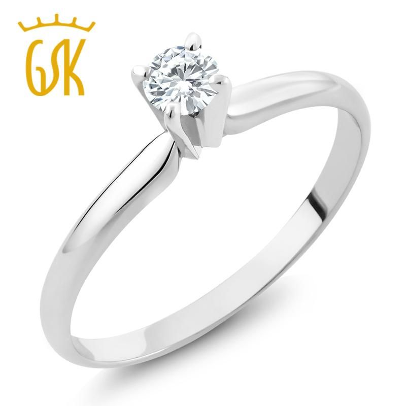 Size 10 7//32 in. wide 5.5mm Sterling Silver Diamond Engagement Ring w// 0.04 Carat Brilliant Cut Diamonds