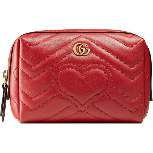 172cde499 Gucci Gg Marmont Cosmetic Case (11,455 HNL) ❤ liked on Polyvore featuring  beauty products, beauty accessories, bags & cases, bags, gucci, bolsas,  makeup ...