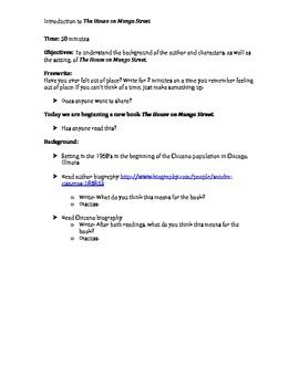 Introduction Lesson To The House On Mango Street  The House On  Introduction Lesson To The House On Mango Street Science Vs Religion Essay also Thesis For An Analysis Essay  Teaching Essay Writing To High School Students