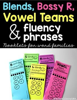 Photo of Blends, Digraphs, Bossy R, Vowel Teams and Fluency Phrases