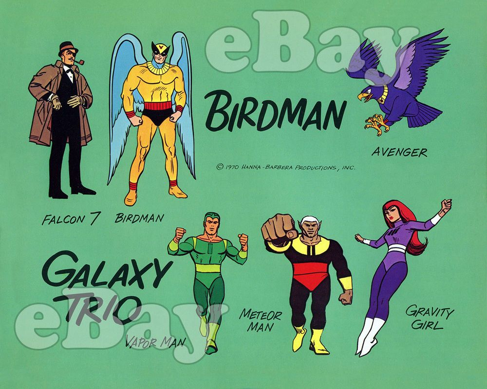 BIRDMAN AND THE GALAXY TRIO Cartoon Color TV Photo HANNA BARBERA Studios