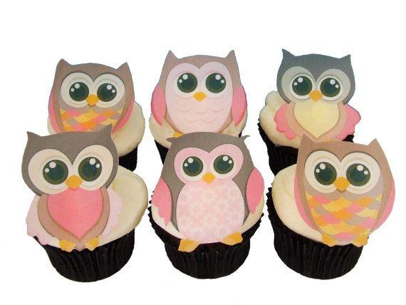 Pleasant Edible Owl And Monkey Cupcake Toppers Owl Cake Toppers Birthday Personalised Birthday Cards Akebfashionlily Jamesorg