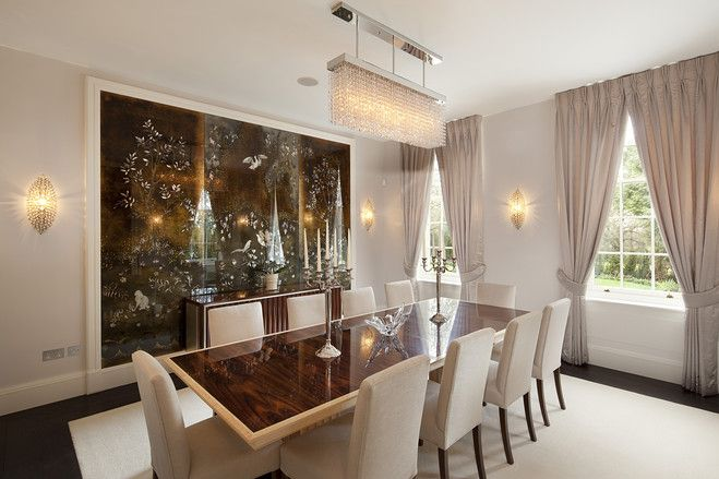 Cool Dining Room (Modern English Mansion) Via WSJ Photo: Glentree Estates