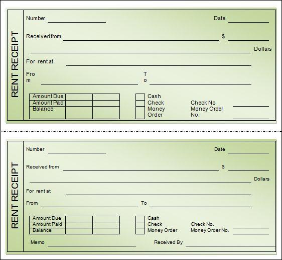Best Rent Receipt Template Receipt Templates Pinterest - cash rent receipt