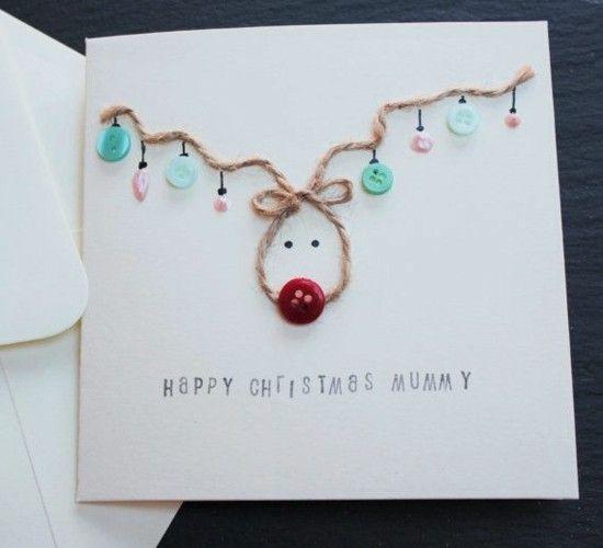 60 originelle Weihnachtskarten basteln mit Kindern #weihnachtskartenbastelnmitkindern