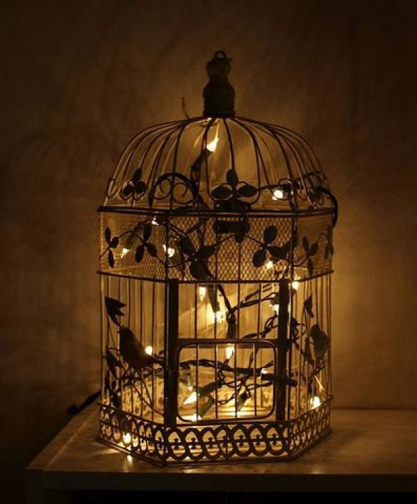 Bird Cage Lamp Home Dècor  Decoratives Pinterest Bird cages