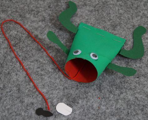 Frosch basteln einfach und schnell - Basteln mit Kindern