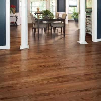 Mohawk Oak Winchester 3 8 In Thick X 3 1 4 In Wide X Random Length Click Hardwood Flooring 23 5 Sq Ft Hgo43 62 The Home Depot Hardwood Floors Flooring Hardwood