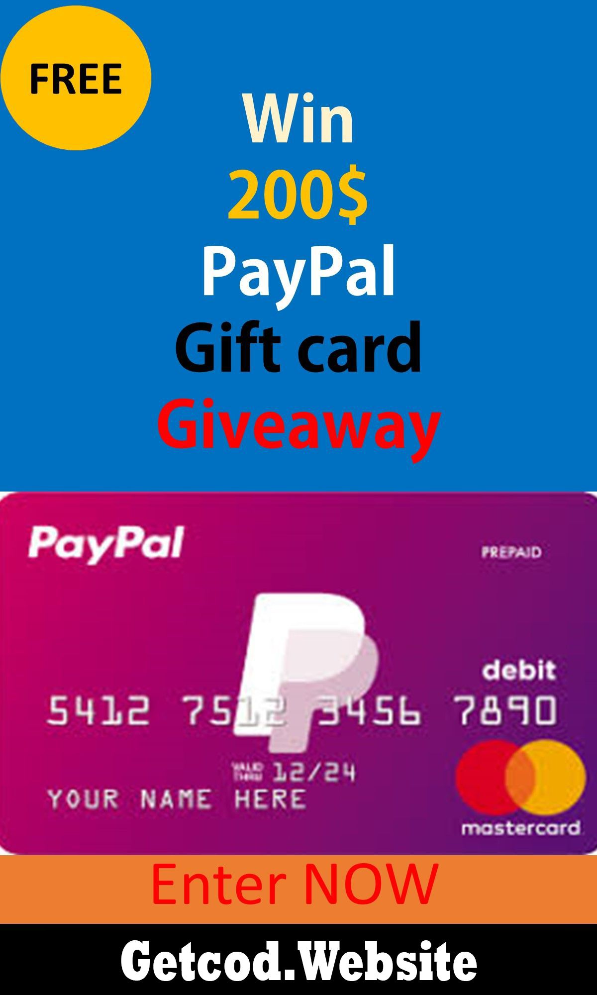 Free paypal gift card how to get free paypal 200 gift